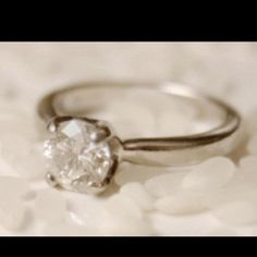 Vintage engagement ring. I absolutely love this!