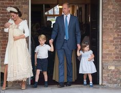 The Duchess of Cambridge looked every inch the proud mum as she left Prince Louis' christe...