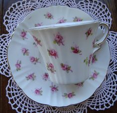Royal Albert Bone China -  England - Vintage Tea Cup and Saucer - Multiple Pink Roses by OfftheShelf2015 on Etsy