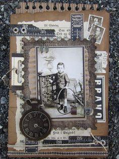 min lille scrappe-verden: Konfirmantkort til gutt Scrapbook Page Layouts, Scrapbook Pages, Cards For Men, Confirmation Cards, Altered Books Pages, Heritage Scrapbooking, Creation Deco, Vintage Scrapbook, Vintage Theme