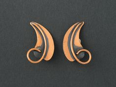 Vintage Rebajes  Earrings Copper Leaves from  ShinyShelly on Etsy
