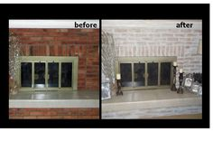 Hi Patty I finished painting my fireplace... I think it came out pretty good. Made my room much brighter! I've attached the photos for you... D'Ann What a transformation, don't you think? Sh...