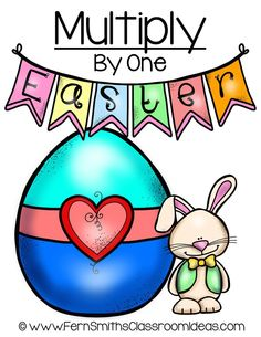 Quick and Easy to Make Multiplication Center Game Multiply By One Concept for Easter #TPT $Paid