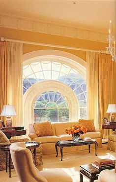 @Matty Chuah White House, The West Sitting Hall, circa 2001 features an elegant half moon window (which has its twin in the East Sitting Hall)