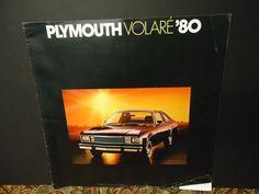 Plymouth Volare' 80 Vintage Dealership Brochure