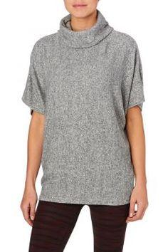 Y.A.S Yoga Tops - Y.A.S Jenna Roll Neck Yoga Top - Grey Melange #modasto #giyim #moda https://modasto.com/y-a-s/kadin/br34643ct2