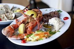 The Boat House, Merrick: At this waterside spot overlooking Merrick Bay, you'll find sunset vistas and seating for about 80. On the seafood-centric menu: Chilean sea bass, linguine with clam sauce and, of course, a burger.