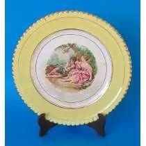 Antigo Prato Decorativo De Porcelana (anos 60)