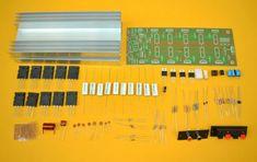 Amplificador Estereo Híbrido de 1000 Watts Diy Amplifier, Speaker Box Design, Circuit Diagram, Electronics Projects, Arduino, Thor, Bb, Sign, Saints