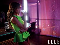 Victoria Beckham goes bare in @Burberry for Elle Uk