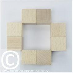 Gift 3 Froebel:  Spielgaben: Holzbausteine der Spielgabe 3 nach Froebel - Schönheitsform/ Mandala