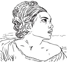 girl seated in a cemetery by eugene delacroix coloring page from famous paintings category select from 20946 printable crafts of cartoons nature animals