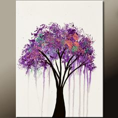 Abstract Landscape Canvas Art Painting 18x24 Original by wostudios, $69.00