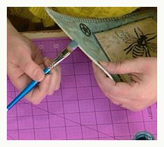 Quilt Binding Techniques for the Creative Quilter. Painting the edge of a quilt? Really?...................