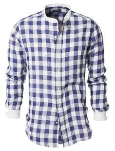Baldessarini - Hemd mit Stehkragen Shaped Fit (€ 149,90).