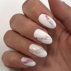 Marble almond nail design is the design I want to introduce to you in this article. Marble nail art designs have been popular for a long time. The shape of almond nails is beautiful and fashionable. Almond Nails Designs, Marble Nail Designs, Marble Nail Art, Nail Art Designs, Unique Nail Designs, Accent Nail Designs, Spring Nail Art, Spring Nails, Nailart