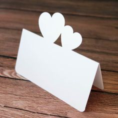 Double Heart design Wedding Party place name cards Happiness Escort