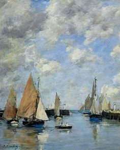 The Jetty at High Tide ~ Eugène Boudin