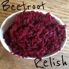 I received some beetroots in my veggie box recently and decided to use them for something a little different to what I normally do. Relish Recipes, Chutney Recipes, Jam Recipes, Cooking Recipes, Relish Sauce, Beetroot Relish, Beetroot Recipes, Xmas Food, Savory Snacks