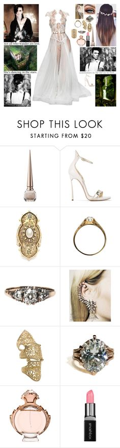 """""""✘ But I believe true sacrifice is a victory. That's because it requires free will to give up something for someone you love, or something or someone you love more than yourself. ✘"""" by blueknight ❤ liked on Polyvore featuring Christian Louboutin, Casadei, Alexander McQueen, Loree Rodkin, Paco Rabanne, Smashbox and Aurélie Bidermann"""