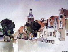 Dutch Painters, Berg, Beautiful Artwork, Netherlands, Holland, Watercolor Paintings, Cool Art, Illustration Art, Landscape