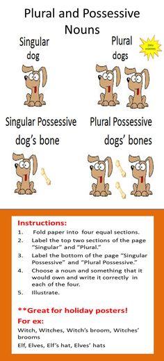 It homework plural nouns