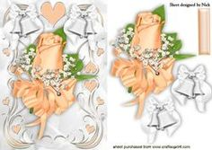 Peach Rose Corsage With White Bells