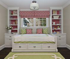 rug, apple green rug, kids room daybed, girls daybed, built in daybed Home Bedroom, Girls Bedroom, Bedroom Decor, Bedroom Ideas, Girls Daybed, Bed Ideas, Master Bedroom, Master Suite, Decor Ideas