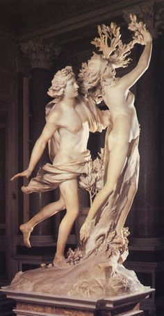 Apollo & Daphne by Gian Lorenzo Bernini, executed in 1622–25. Galleria Borghese, Rome, ITALY