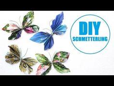 DIY - Schmetterlinge Basteln / falten Ostern Deko Idee - YouTube