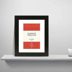 """Book Clubs: """"Liverpool"""" A4 Football Print in red, white and orange."""