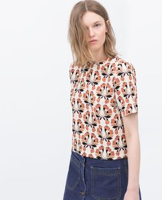Image 4 of PRINTED TOP from Zara