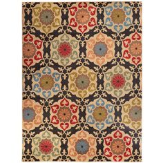 Home Decorators Collection Amelia Medallion Black 9 ft. 6 in. x 12 ft. 2 in. Area Rug