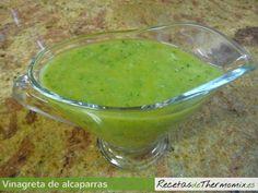 Vinagreta de alcaparras Thermomix Salsa Verde, Guacamole, Mexican, Ethnic Recipes, Food, Vinaigrette, Vegetables, Ethnic Food, Mediterranean Kitchen