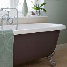 Mintgrün Badezimmer mit freistehender Badewanne Wohnideen Badezimmer Living Ideas Bathroom