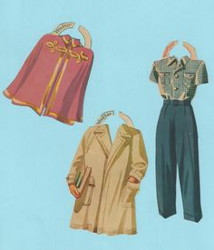 Vintage Paper Doll Outfits Walter