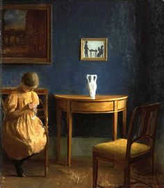 Peter Ilsted 'Girl in an interior' 1904