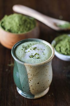 Matcha Green Tea Latte | dairy-free and full of antioxidants