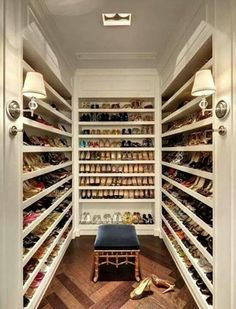 The huge #shoes #closet. That's insane <3 Only for #shopping addicted :)
