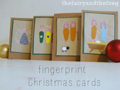 very sweet finger print nativity card