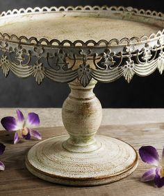 Distressed White Cake Stand #zulily #zulilyfinds