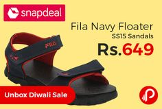 Snapdeal is offering 35% off on Fila Navy Floater SS15 Sandals Just at Rs.649. Closure: Velcro, Sole Material: PU, Upper Material: Faux Synthetic Leather.  http://www.paisebachaoindia.com/fila-navy-floater-ss15-sandals-just-at-rs-649-snapdeal/