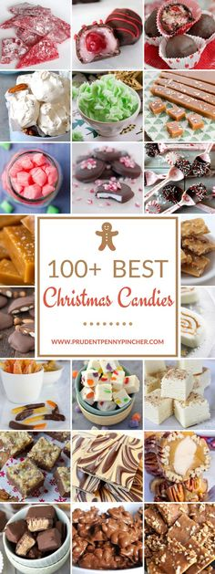 Over 100 Christmas candy recipes to give as gifts. Save money by making your own christmas candy this year! Homemade Christmas candy makes a great gift or addition to the Christmas dessert menu. From bark to fudge and chocolate candies, there are over a Christmas Bark, Christmas Deserts, Holiday Desserts, Holiday Treats, Holiday Baking, Holiday Recipes, Christmas Recipes, Xmas, Party Desserts
