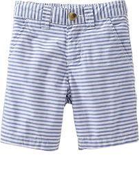 Striped Poplin Shorts for Baby