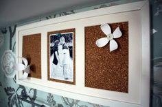 cork board in an old frame