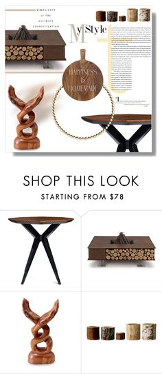"""""""My Style- Simple Wood..."""" by elleylove ❤ liked on Polyvore featuring interior, interiors, interior design, home, home decor, interior decorating, Kate Spade, AK47, NOVICA and Bloomingville"""