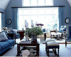 blue living room - Recherche Google