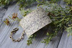 19th Century Black & White Image Cuff Bracelet by LivyLynnVintique