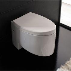 Toilet, Scarabeo 8208, Modern Wall Mounted Ceramic Toilet Zefiro 8208