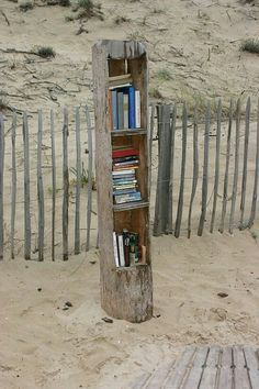 Beach library...cool